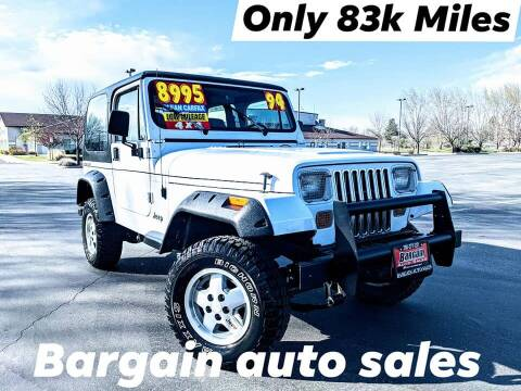 1994 Jeep Wrangler for sale at Bargain Auto Sales LLC in Garden City ID