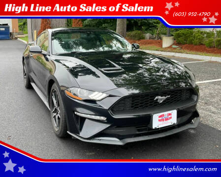 2018 Ford Mustang for sale at High Line Auto Sales of Salem in Salem NH