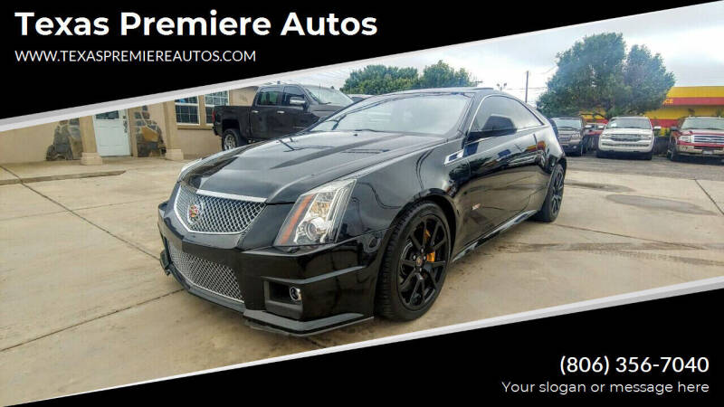 2012 Cadillac CTS-V for sale at Texas Premiere Autos in Amarillo TX