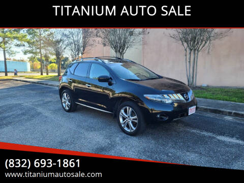 2009 Nissan Murano for sale at TITANIUM AUTO SALE in Houston TX