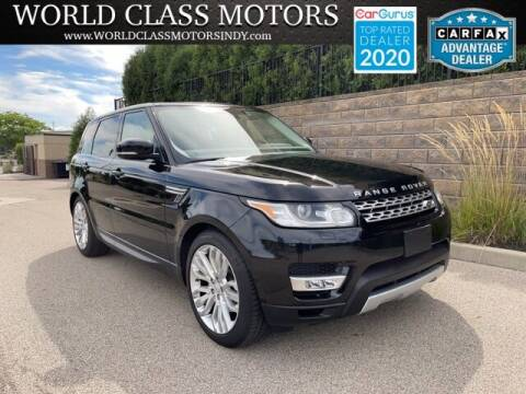 2016 Land Rover Range Rover Sport for sale at World Class Motors LLC in Noblesville IN