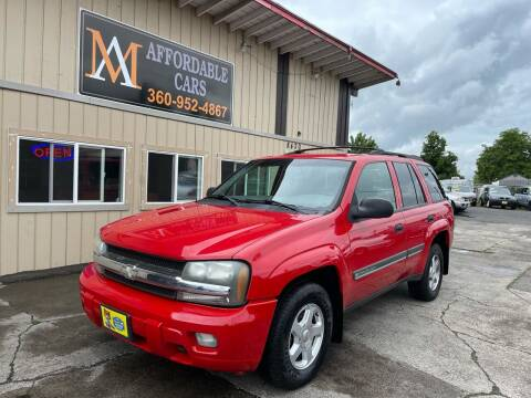 2002 Chevrolet TrailBlazer for sale at M & A Affordable Cars in Vancouver WA
