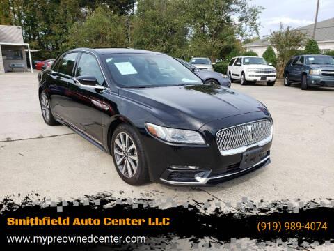 2017 Lincoln Continental for sale at Smithfield Auto Center LLC in Smithfield NC