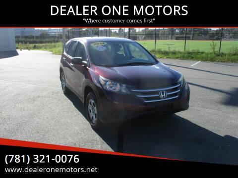 2014 Honda CR-V for sale at DEALER ONE MOTORS in Malden MA