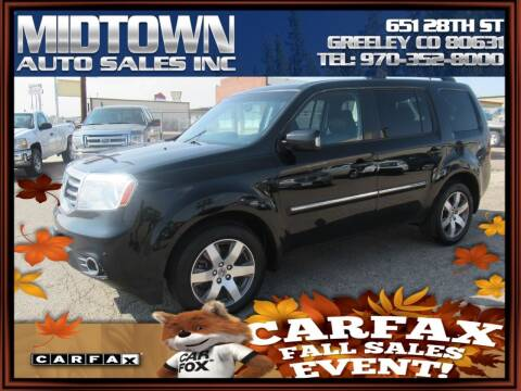 2013 Honda Pilot for sale at MIDTOWN AUTO SALES INC in Greeley CO