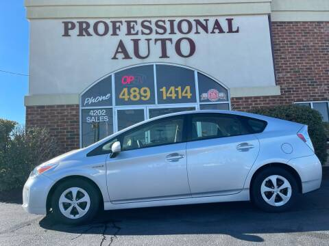 2015 Toyota Prius for sale at Professional Auto Sales & Service in Fort Wayne IN