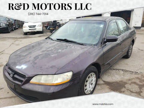 1998 Honda Accord for sale at R&D Motors LLC in Cleveland OH