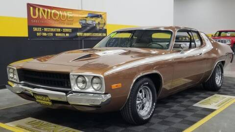 1974 Plymouth Roadrunner for sale at UNIQUE SPECIALTY & CLASSICS in Mankato MN