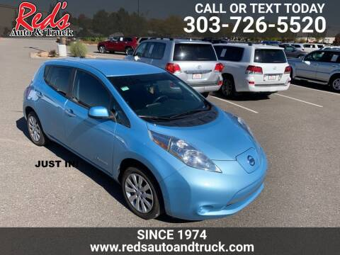 2015 Nissan LEAF for sale at Red's Auto and Truck in Longmont CO