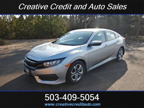 2017 Honda Civic for sale at Creative Credit & Auto Sales in Salem OR