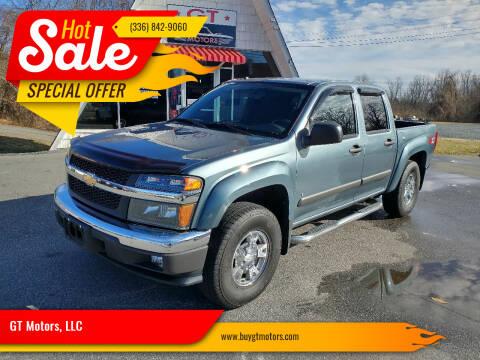 2007 Chevrolet Colorado for sale at GT Motors, LLC in Elkin NC