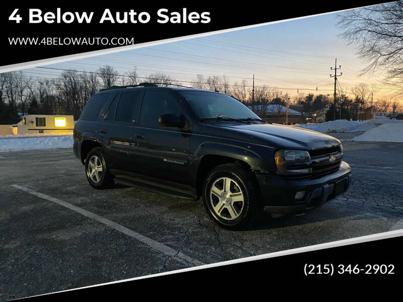 2004 Chevrolet TrailBlazer for sale at 4 Below Auto Sales in Willow Grove PA