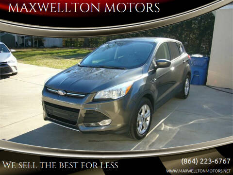 2016 Ford Escape for sale at MAXWELLTON MOTORS in Greenwood SC