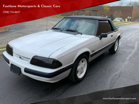 1990 Ford Mustang for sale at Fastlane Motorsports & Classic Cars in Addison IL
