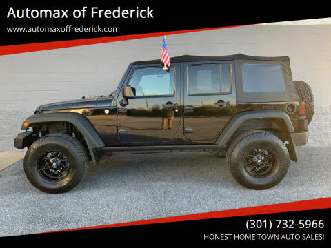 2014 Jeep Wrangler Unlimited for sale at Automax of Frederick in Frederick MD