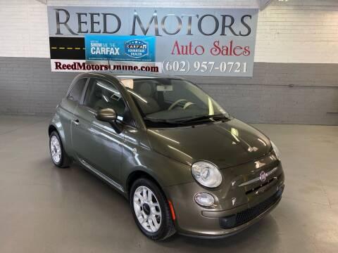 2012 FIAT 500 for sale at REED MOTORS LLC in Phoenix AZ
