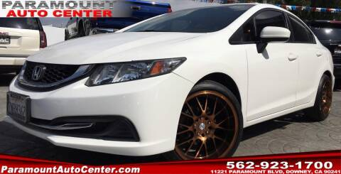 2015 Honda Civic for sale at PARAMOUNT AUTO CENTER in Downey CA