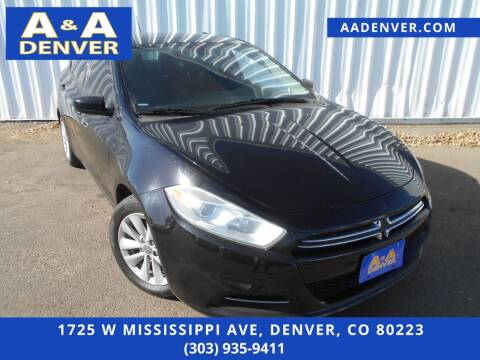 2016 Dodge Dart for sale at A & A AUTO LLC in Denver CO