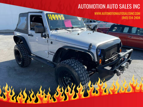 2011 Jeep Wrangler for sale at Automotion Auto Sales Inc in Kingston NY