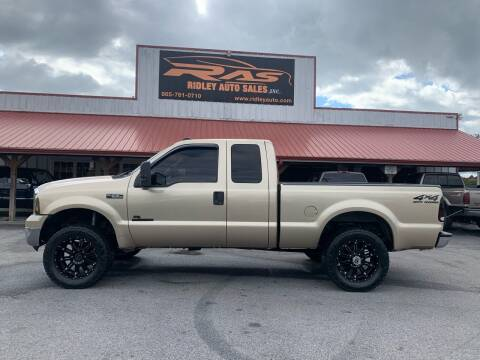 2000 Ford F-250 Super Duty for sale at Ridley Auto Sales, Inc. in White Pine TN