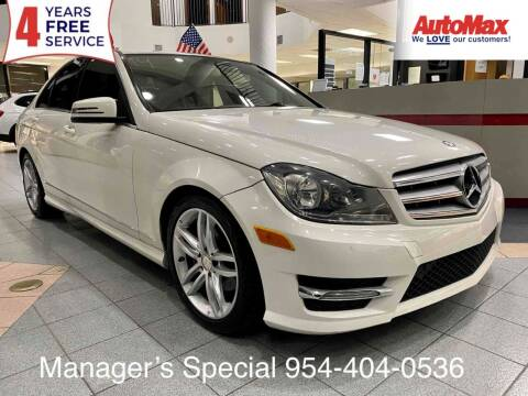 2012 Mercedes-Benz C-Class for sale at Auto Max in Hollywood FL