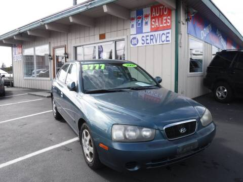 2003 Hyundai Elantra for sale at 777 Auto Sales and Service in Tacoma WA