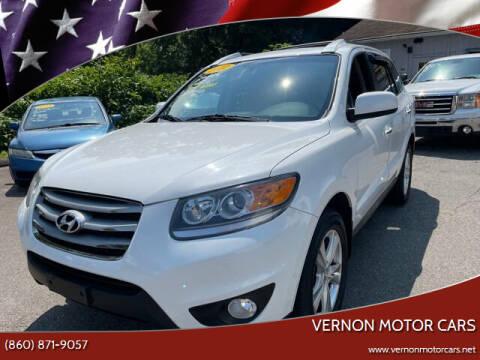 2012 Hyundai Santa Fe for sale at VERNON MOTOR CARS in Vernon Rockville CT