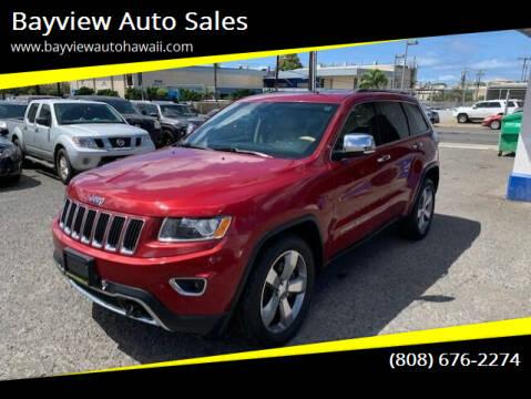 2014 Jeep Grand Cherokee for sale at Bayview Auto Sales in Waipahu HI