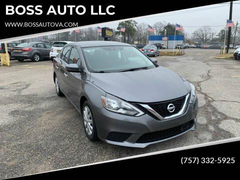 2018 Nissan Sentra for sale at BOSS AUTO LLC in Norfolk VA