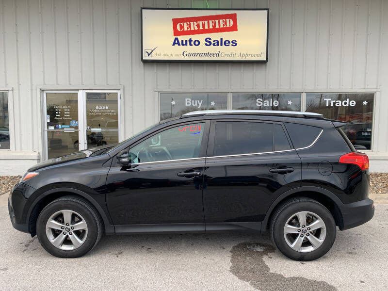 2015 Toyota RAV4 for sale at Certified Auto Sales in Des Moines IA