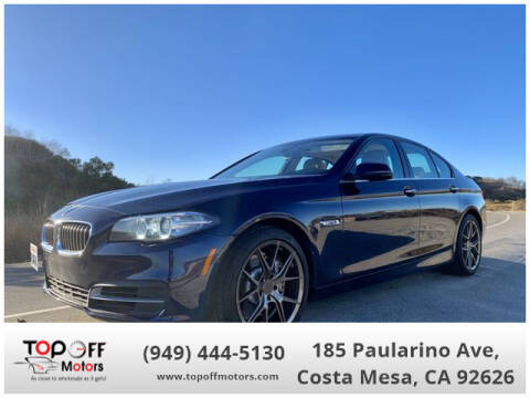 2014 BMW 5 Series for sale at TOP OFF MOTORS in Costa Mesa CA