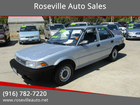 1990 Toyota Corolla for sale at Roseville Auto Sales in Roseville CA