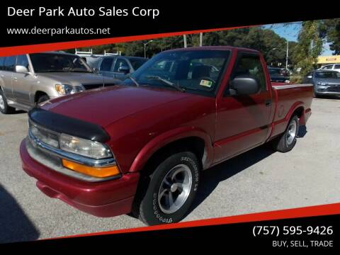 1998 Chevrolet S-10 for sale at Deer Park Auto Sales Corp in Newport News VA