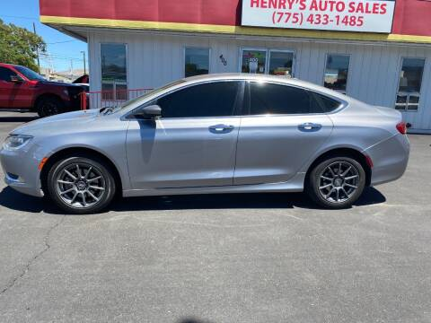 2015 Chrysler 200 for sale at Henry's Autosales, LLC in Reno NV