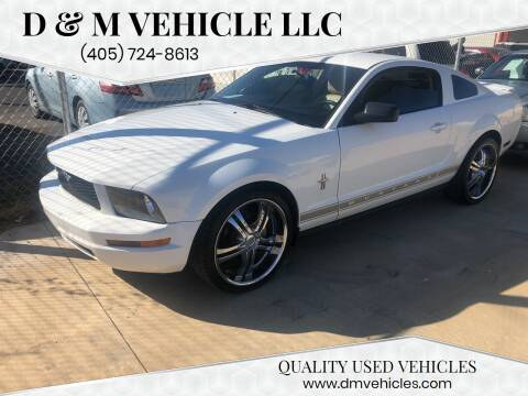 2007 Ford Mustang for sale at D & M Vehicle LLC in Oklahoma City OK