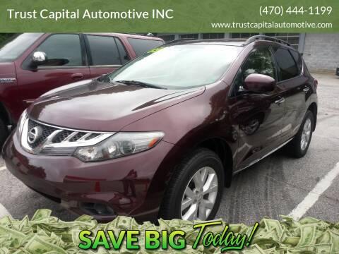 2014 Nissan Murano for sale at Trust Capital Automotive Inc. in Covington GA