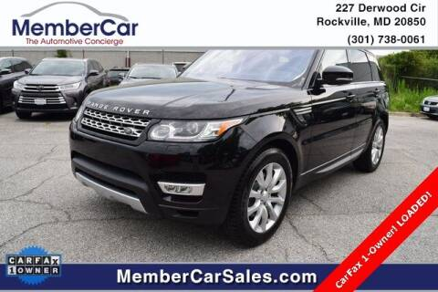 2016 Land Rover Range Rover Sport for sale at MemberCar in Rockville MD
