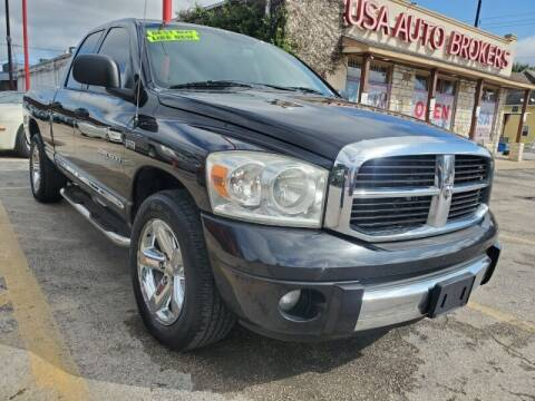 2007 Dodge Ram Pickup 1500 for sale at USA Auto Brokers in Houston TX