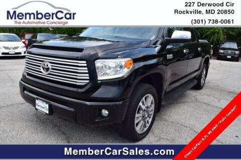 2015 Toyota Tundra for sale at MemberCar in Rockville MD