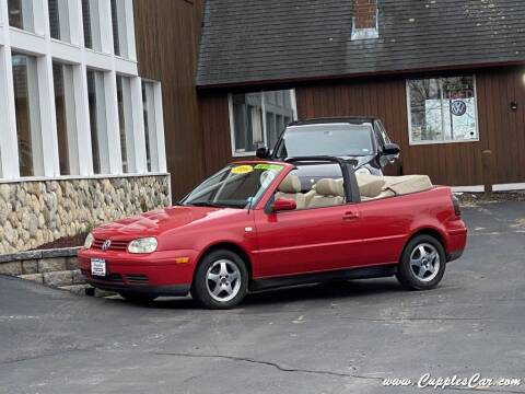 2000 Volkswagen Cabrio for sale at Cupples Car Company in Belmont NH