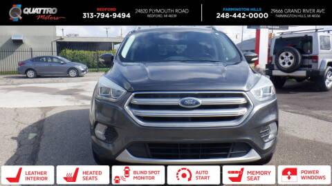2017 Ford Escape for sale at Quattro Motors 2 - 1 in Redford MI