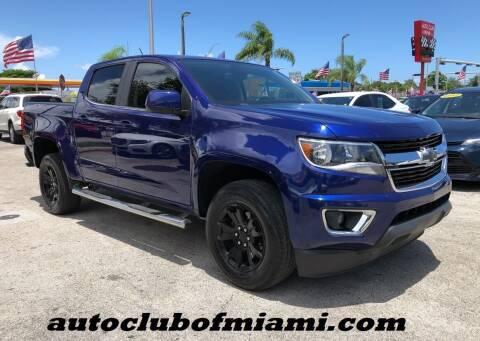 2017 Chevrolet Colorado for sale at AUTO CLUB OF MIAMI, INC in Miami FL
