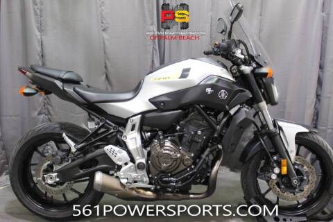 2017 Yamaha FZ-07 for sale at Powersports of Palm Beach in Hollywood FL