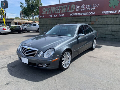 2008 Mercedes-Benz E-Class for sale at SPRINGFIELD BROTHERS LLC in Fullerton CA