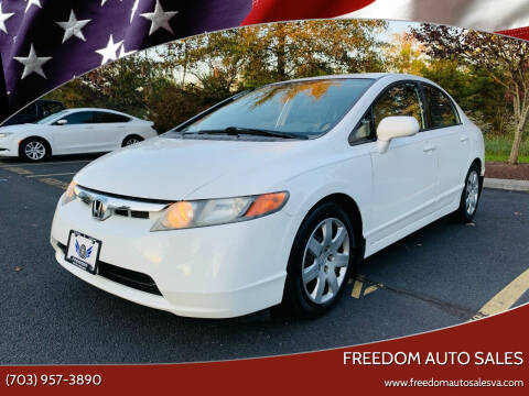 2008 Honda Civic for sale at Freedom Auto Sales in Chantilly VA