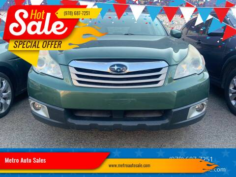 2011 Subaru Outback for sale at Metro Auto Sales in Lawrence MA