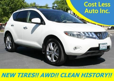 2009 Nissan Murano for sale at Cost Less Auto Inc. in Rocklin CA