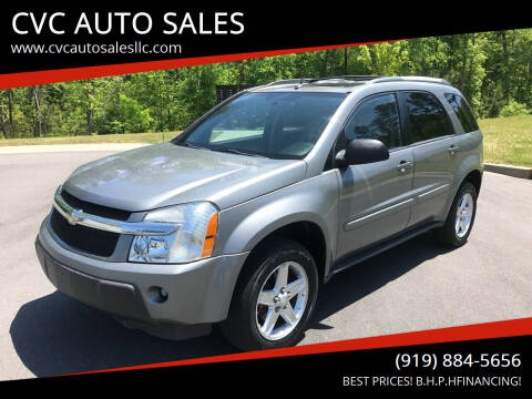 2005 Chevrolet Equinox for sale at CVC AUTO SALES in Durham NC