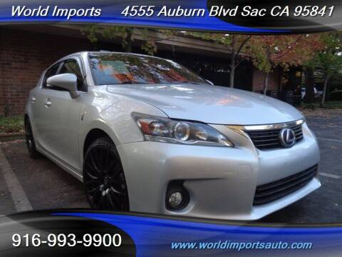2013 Lexus CT 200h for sale at World Imports in Sacramento CA