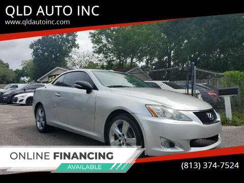 2010 Lexus IS 250C for sale at QLD AUTO INC in Tampa FL